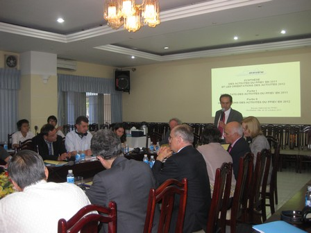 Ông Sylvain Fourrière, Tham tán hợp tác và hoạt động văn hóa - Đại sứ quán Pháp tại Hà Nội phát biểu ý kiến - 48.3kb
